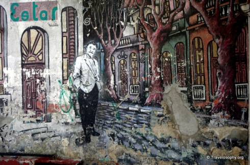 Street Scene Mural, Montevideo, Uruguay. Photograph by Jean-Jacques M